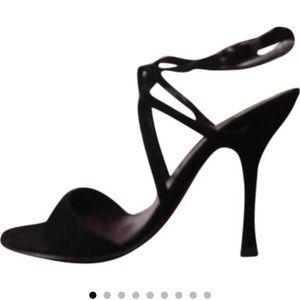 Escada Suede Classy Sandals Size 11/41 GORGEOUS